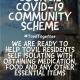 Tovil Parish Council Covid-19 Community Scheme poster
